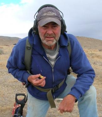 Bob Holding a Nice Nevada Gold Nugget