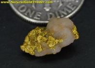 1.21 Gram Australia Gold & Quartz Specimen