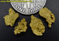 2.64 Grams (4) Nevada Gold Nuggets