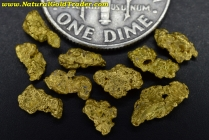 2.19 Grams (10) Nevada Gold Nuggets