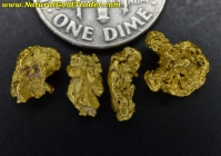 2.94 Grams (4) Northern Nevada Gold Nuggets
