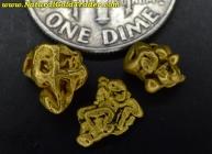 2.23 Grams (3) California Gold Specimens