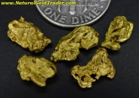 4.76 Grams (5) California Placer Gold Nuggets