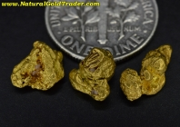 3.20 Grams (3) California Gold Nuggets