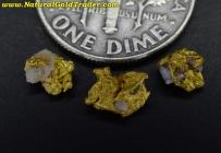 0.96 Grams (3) California Gold & Quartz