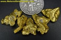 14.57 Grams (5) Alaska Placer Gold Nuggets