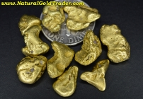 18.47 Grams (10) Alaska Placer Gold Nuggets