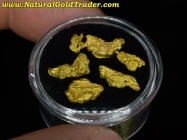 3.88 Grams (5) Northern Nevada Gold Nuggets