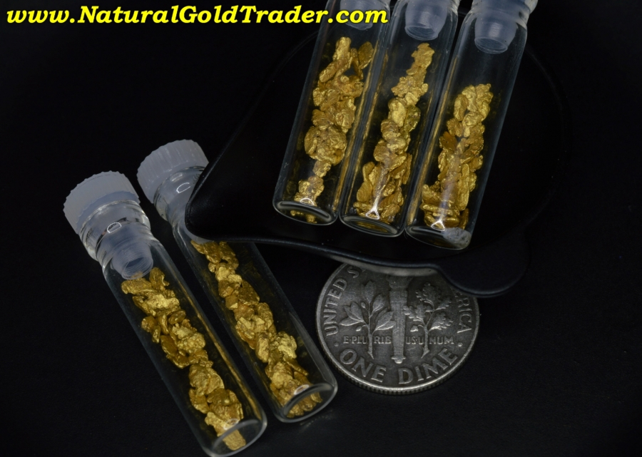 Smaller Natural Placer Gold Nuggets For Sale