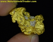 4.59 Gram Australia Gold Nugget with Quartz