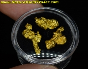 4.63 Grams (3) Western Australia Gold Nuggets