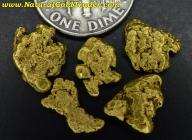 4.68 Grams (5) Fairbanks Alaska Gold Nuggets