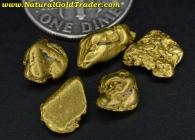 4.83 Grams (5) Alaska Placer Gold Nuggets