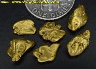 5.37 Grams (6) Alaska Placer Gold Nuggets