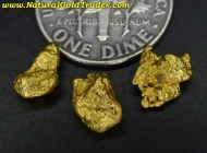 2.98 Grams (3) Kalgoorlie Australia Gold Nuggets
