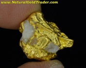 6.25 Gram Australia Gold Nugget with Quartz
