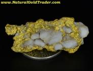 13.86 Gram Australia Gold & Quartz Specimen