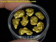 13.70 Grams (8) Alaska Placer Gold Nuggets