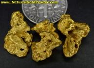 12.65 Grams (3) Victoria Australia Gold Nuggets