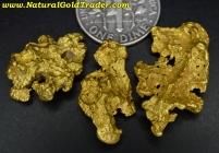 13.66 Grams (3) Victoria Australia Gold Nuggets