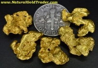 18.59 Grams (5) Victoria Australia Gold Nuggets