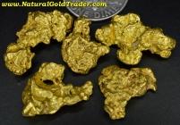20.83 Grams (5) Victoria Australia Gold Nuggets