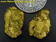 10.69 Grams (2) British Columbia Gold Nuggets