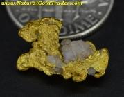 2.91 Gram Nevada Gold Nugget with Quartz