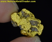 3.50 Gram Nevada Gold Nugget with Quartz