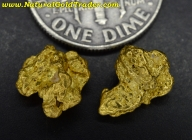 2.61 Grams (2) Australia Placer Gold Nuggets