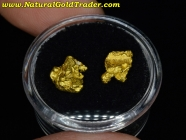 3.57 Grams (2) Australia Placer Gold Nuggets