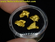 4.51 Grams (4) Australia Placer Gold Nuggets