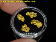 4.75 Grams (4) Nevada Placer Gold Nuggets