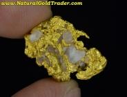 5.09 Gram Australia Gold Nugget with Quartz