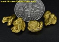 5.85 Grams (4) Alaska Placer Gold Nuggets