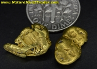 7.14 Grams (2) Alaska Placer Gold Nuggets