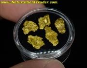 3.73 Grams (5) Sawtooth Nevada Gold Nuggets
