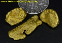 10.71 Grams (3) Alaska Placer Gold Nuggets