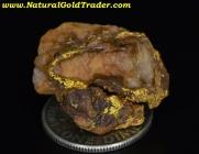 6.48 Gram California Gold & Quartz Specimen