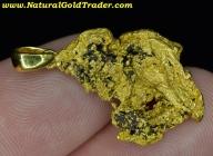 9.20 Gram California Gold Nugget Pendant