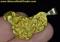 18.74 Gram AK Placer Gold Nugget Pendant