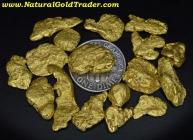 1 ozt.+ 31.34 Grams (16) Alaska Gold Nuggets