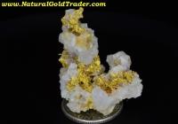 7.62 Gram Kelsey Ca. Gold & Calcite Specimen
