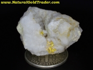 19.48 Gram Kelsey Ca. Gold & Calcite Specimen