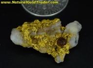 6.30 Gram California Gold/Quartz/Hematite