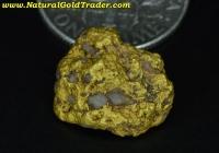 4.15 Gram Gold Basin Arizona Nugget w-Quartz