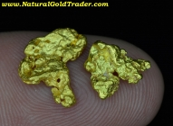 2.76 Grams (2) Western Australia Gold Nuggets