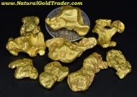 1 ozt.+ 31.59 Grams (9) Oregon Gold Nuggets
