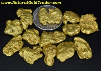 1 ozt.+ 31.61 Grams (13) Oregon Gold Nuggets