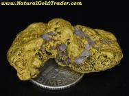 22.01 Gram Mexico Gold Nugget with Quartz